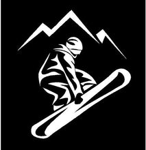 Load image into Gallery viewer, snow boarder decal car truck window snow boarding sticker