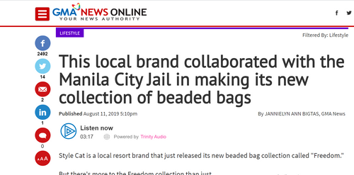 GMA NEWS: SC collaborated with Manila City Jail in making its new collection of beaded bags