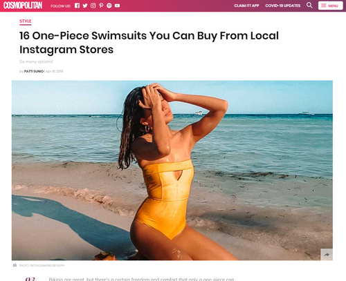 COSMO: 16 One-Piece Swimsuits You Can Buy From Local IG Stores