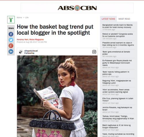 ABS-CBN NEWS: How Basket Trend Put Local Blogger in The Spotlight