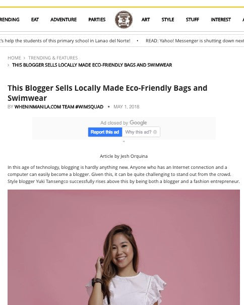 WHEN IN MANILA: THIS BLOGGER SELLS LOCALLY MADE BAGS AND SWIMWEAR