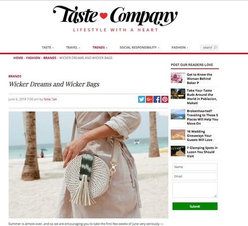 TASTE COMPANY: Wicker Dreams and Wicker Bags