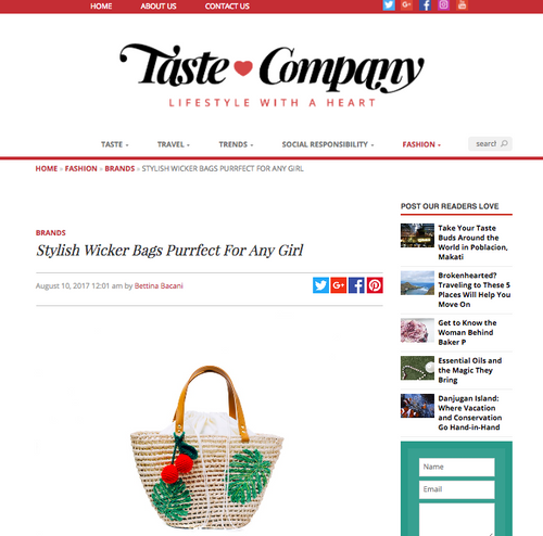 TASTE COMPANY: Stylish Wicker Bags Purrfect For Any Girl