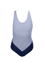 Alex - Solid Navy + Nautical Stripes