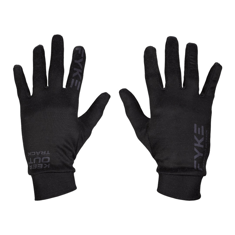 Merino Wool Running Gloves Black/Blue