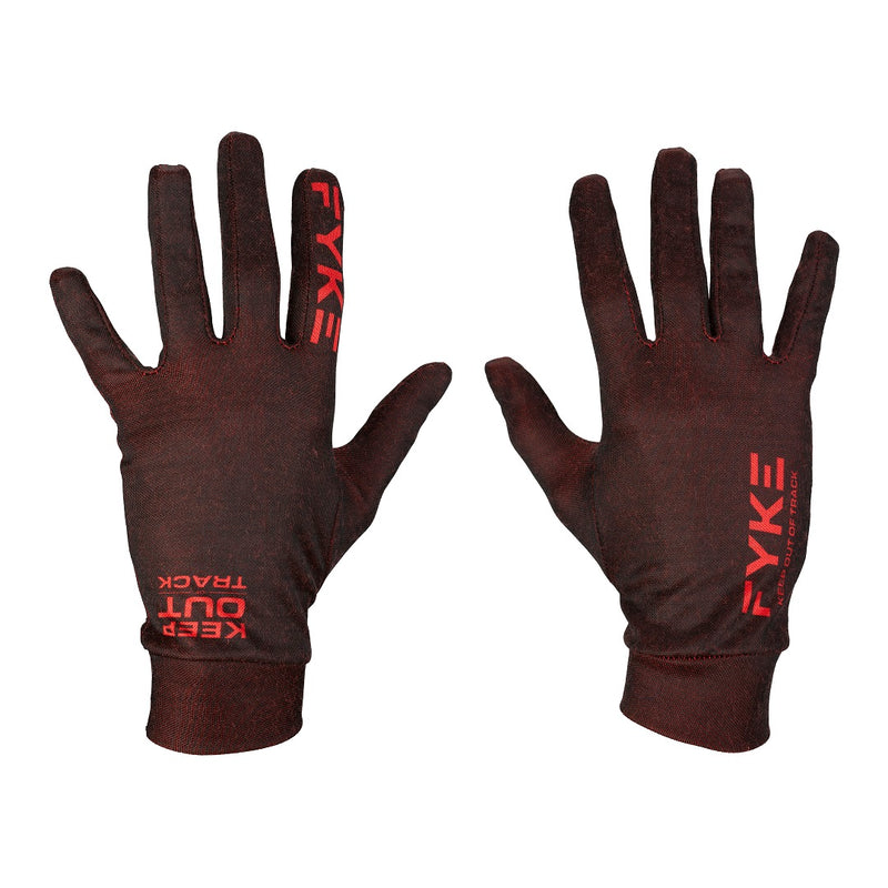 Merino Wool Running Gloves Black/Red