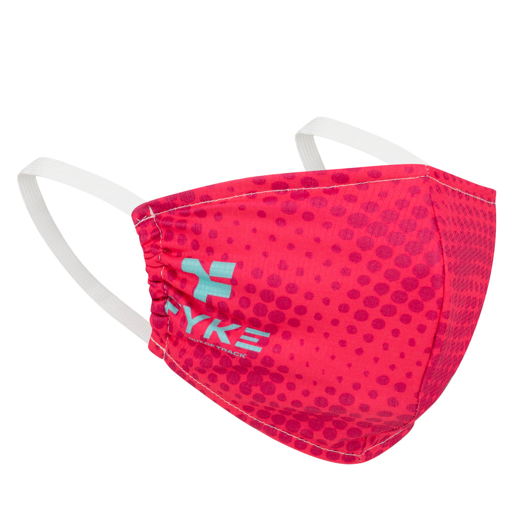 Boost Facemask Red Halftone