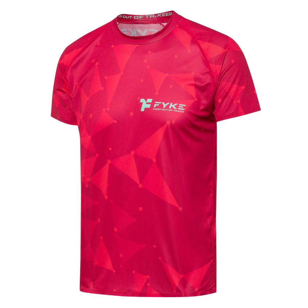 Boost Men T-Shirt Red - Triangles
