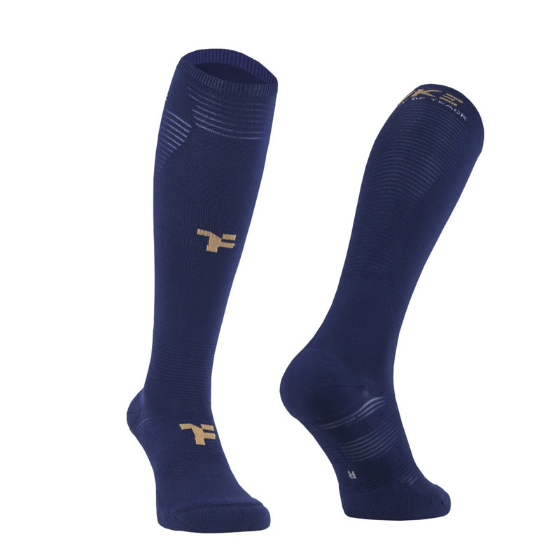 Fyke Boost Compressive Long Sock Navy