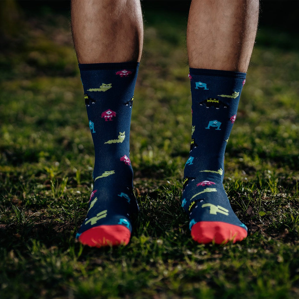 Daily Performer Monster Socks over grass