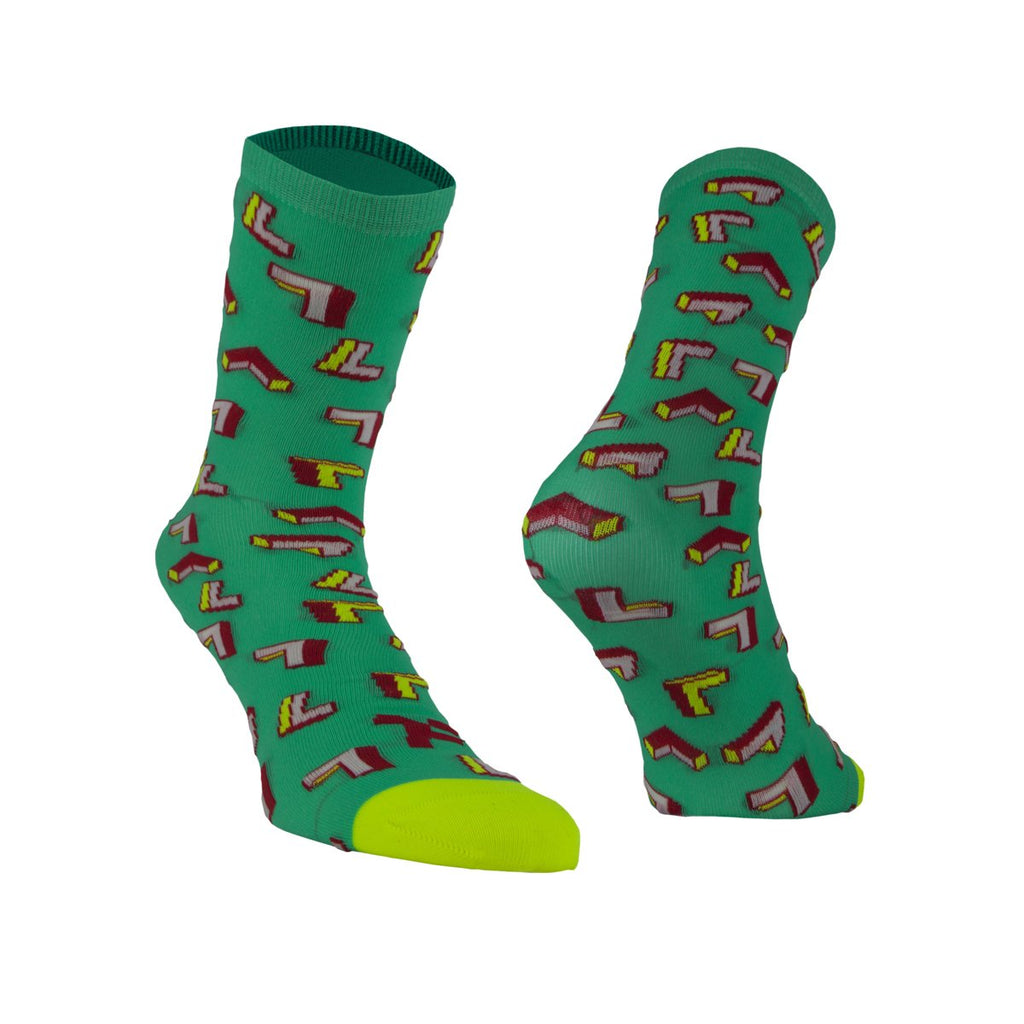 Daily Performer Fyke Socks Green Arrows