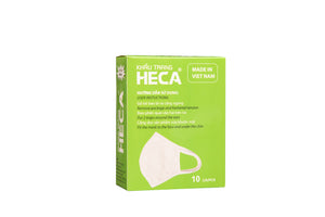 10 PACK OF HIGH QUALITY WASHABLE COTTON FACE MASKS - HECA BRAND