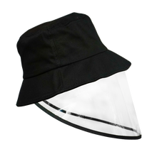 Load image into Gallery viewer, Kids Bucket Hat with Face Shield BLACK