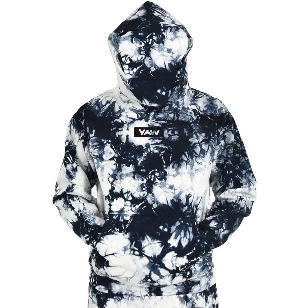 Black Lighting Tie Dye Pullover Hoodie - YAW DENIM