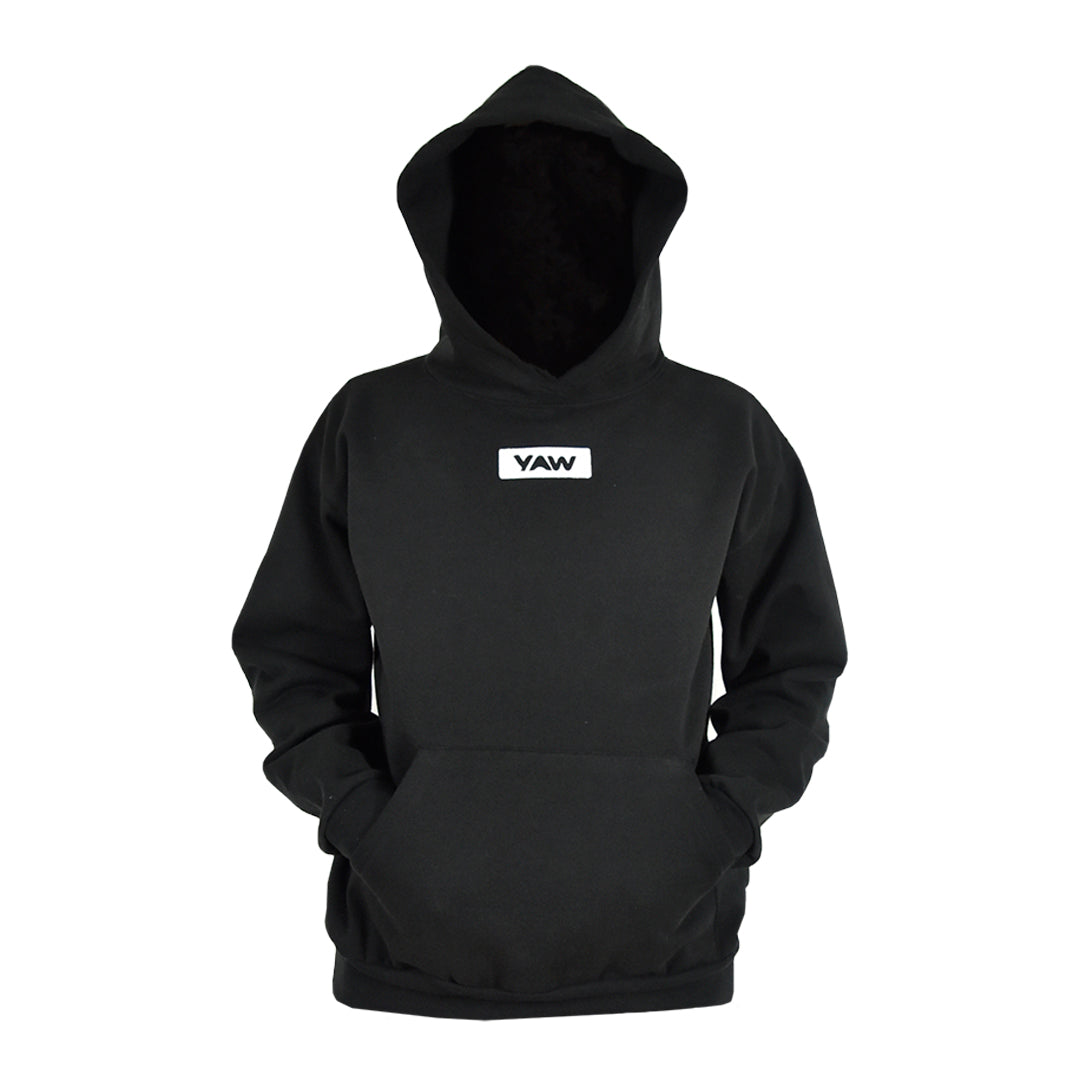 Men Black Pullover Hoodie - YAW DENIM