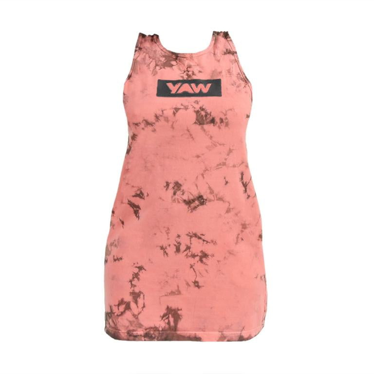 Women Coral Tie Dye Dress - YAW DENIM
