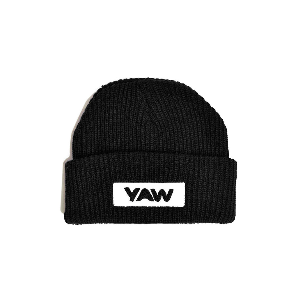 Black Cuffed Beanie - YAW DENIM