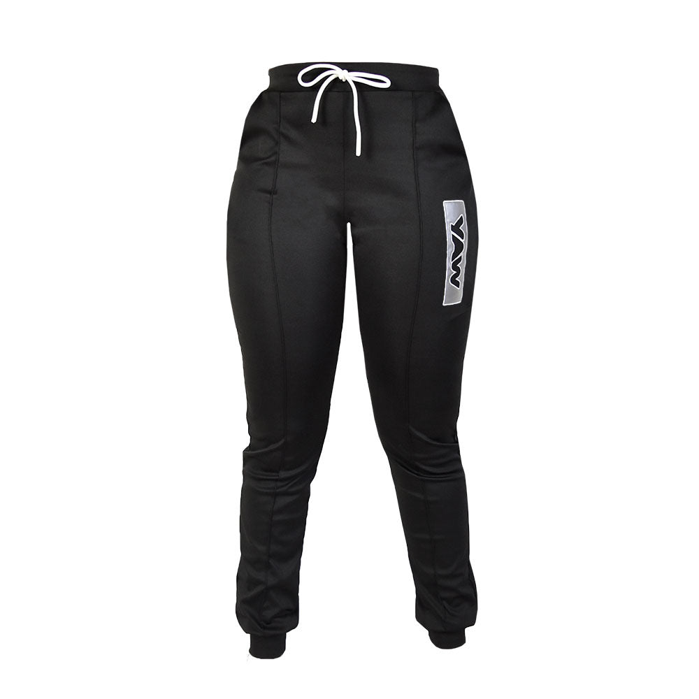 Women  - Black Track Pants - YAW DENIM