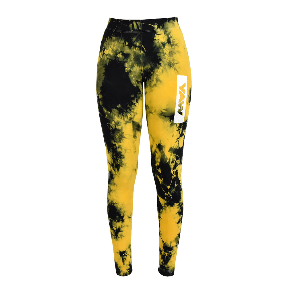Women - Yellow & Black Leggings - YAW DENIM