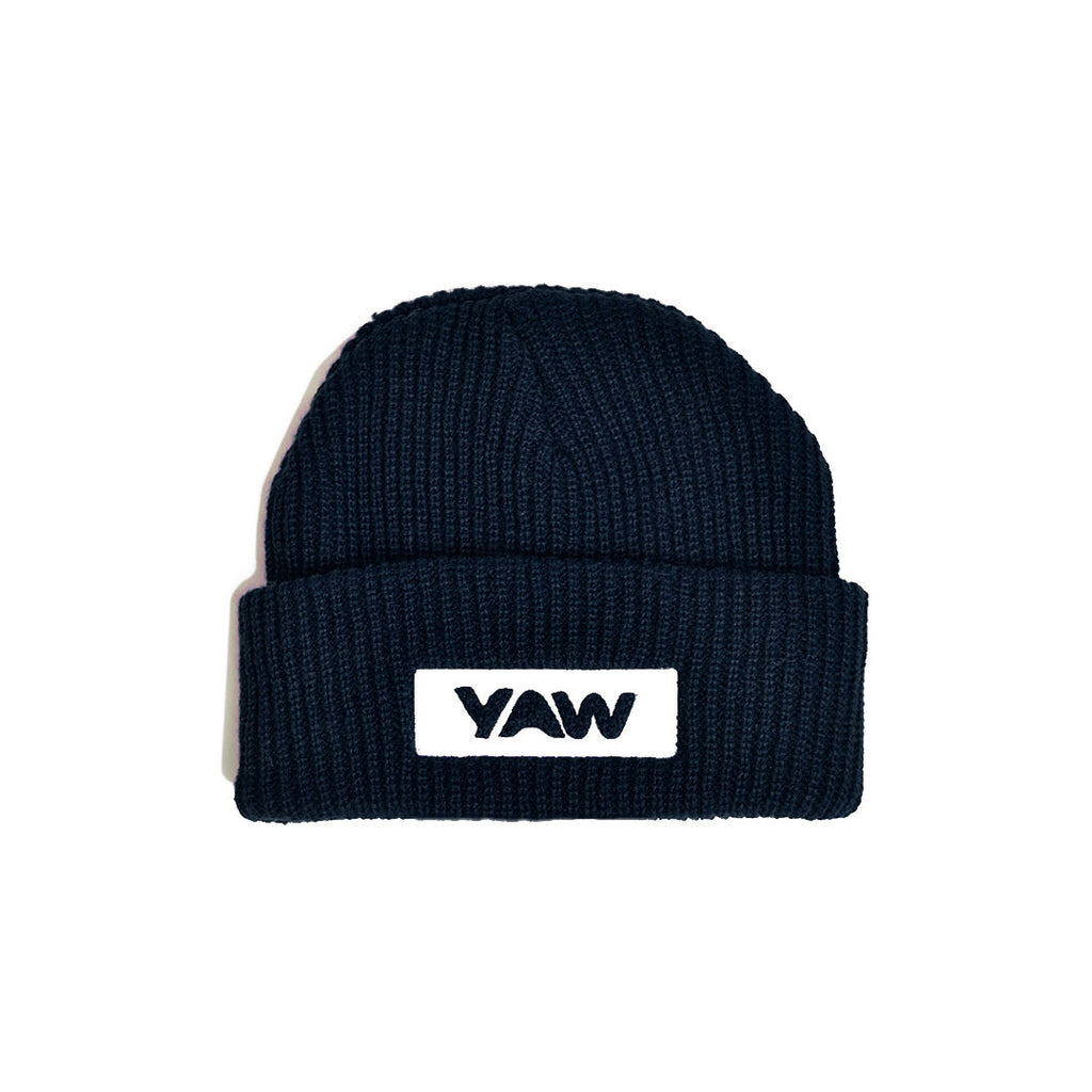 Navy Cuffed Beanie - YAW DENIM