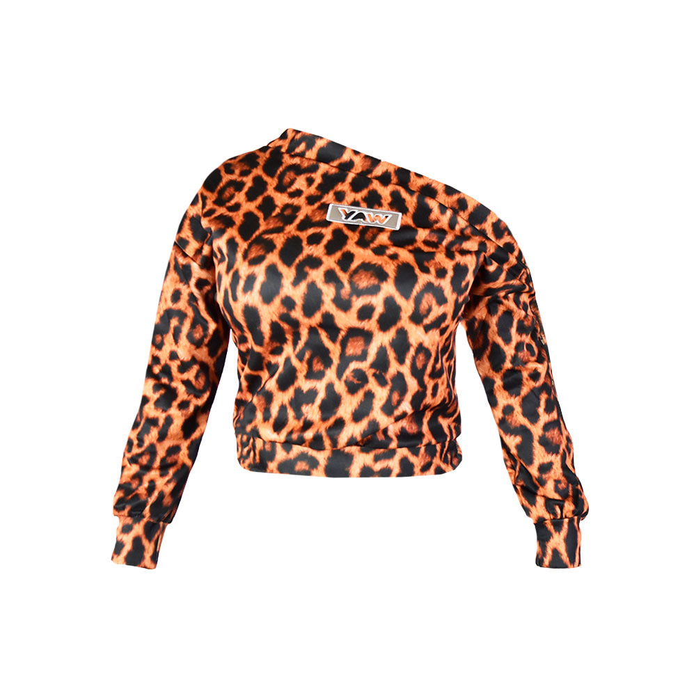 Women  -  Limited Edition Leopard Off The Shoulder Top (SMALL) - YAW DENIM