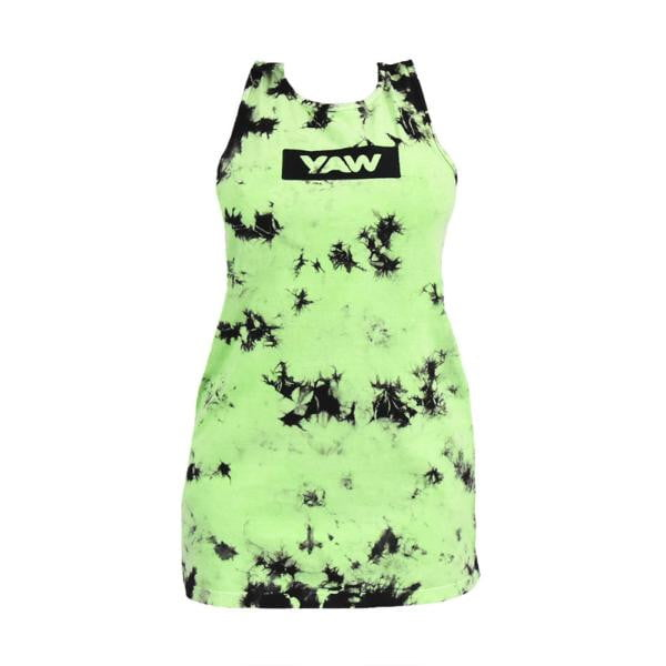 Women Green Tie Dye Dress - YAW DENIM