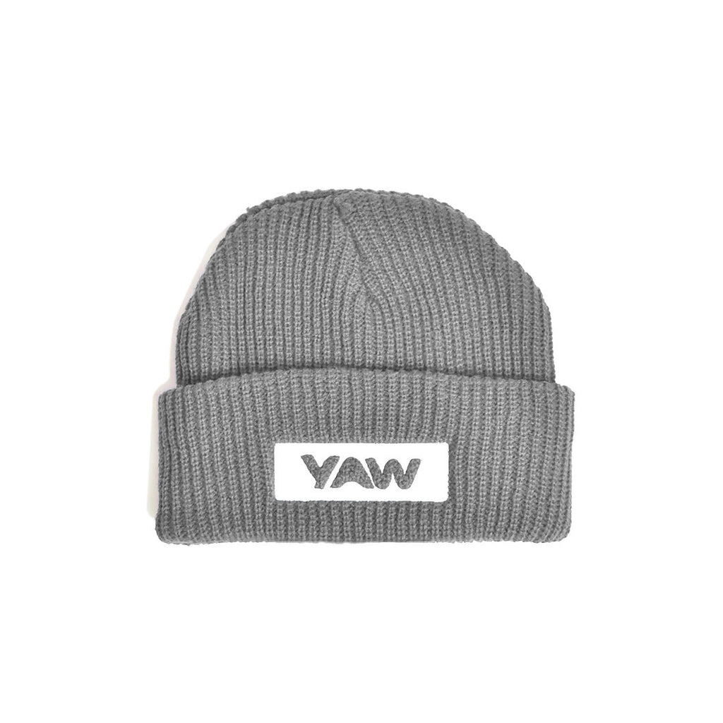 Grey Cuffed Beanie - YAW DENIM