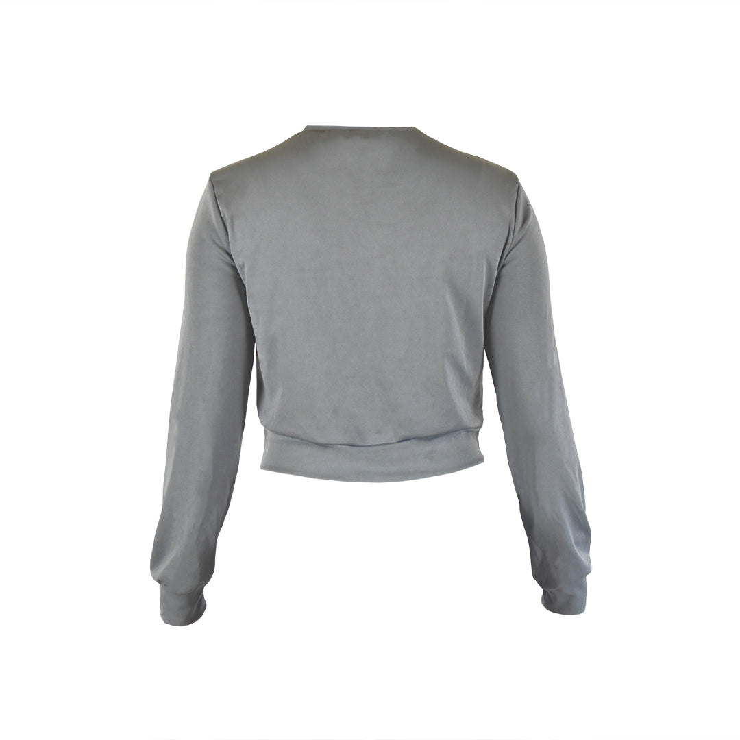 Women – Charcoal Grey Crewneck - YAW DENIM