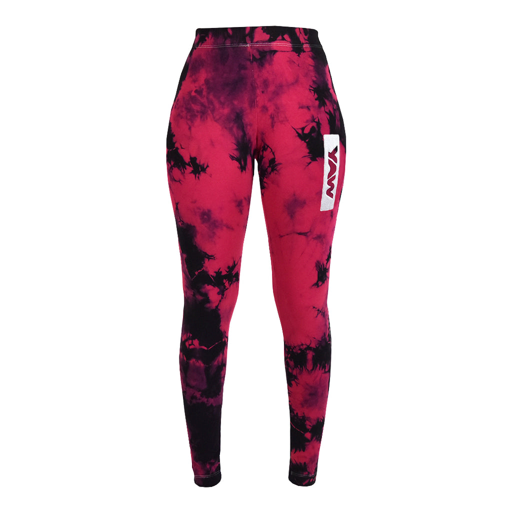 Women - Jazzy Pink & Black Leggings - YAW DENIM