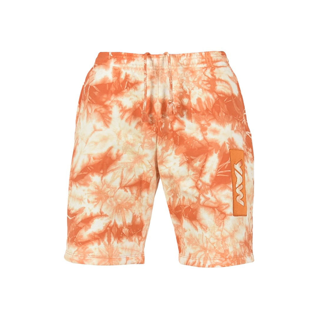 Men Orange and White Lightning Shorts - YAW DENIM
