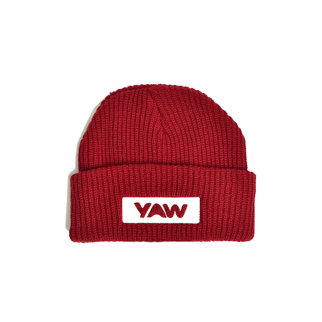 Red Cuffed Beanie - YAW DENIM