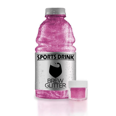 Pink Brew Glitter | Edible Glitter for Sports Drinks & Energy Drinks