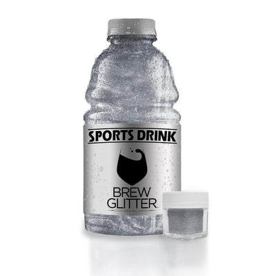 Silver Brew Glitter | Edible Glitter for Sports Drinks & Energy Drinks