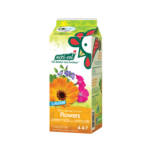 perennial flower organic fertilizer 4-4-7
