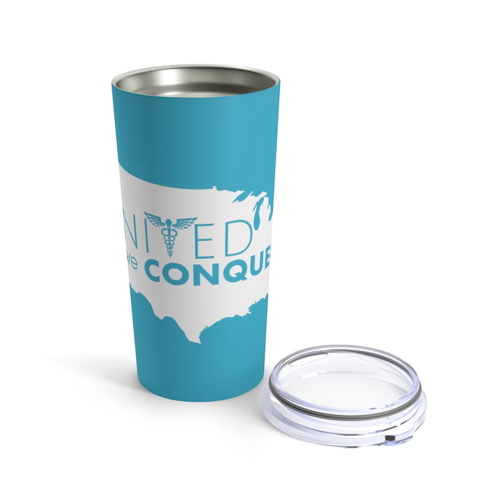 United We Conquer Tumbler in Blue - 20oz
