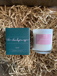 Raspberry And Cream Candle