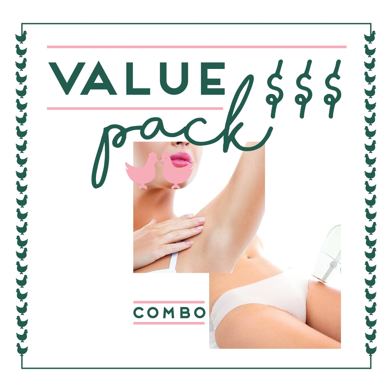 Bikini & Underarms Laser - 6 Session Value Pack