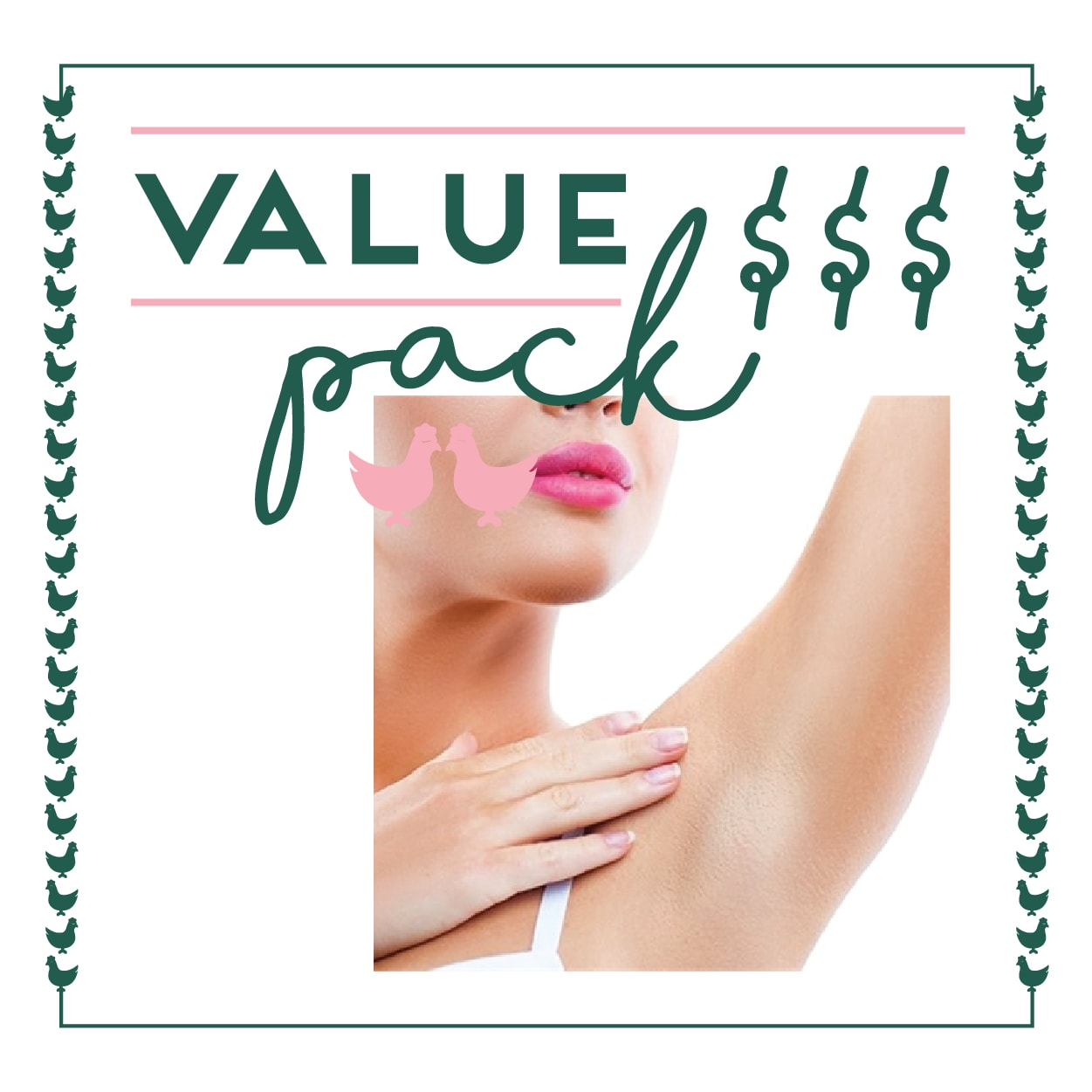 Underarms Laser - 6 Session Value Pack