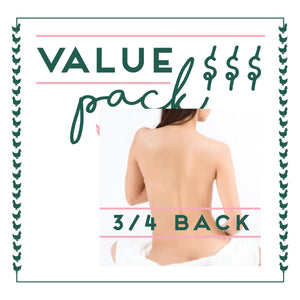 3/4 Back Laser - 6 Session Value Pack