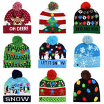 Load image into Gallery viewer, LED  Christmas Knitted Beanie