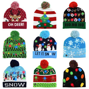 LED  Christmas Knitted Beanie