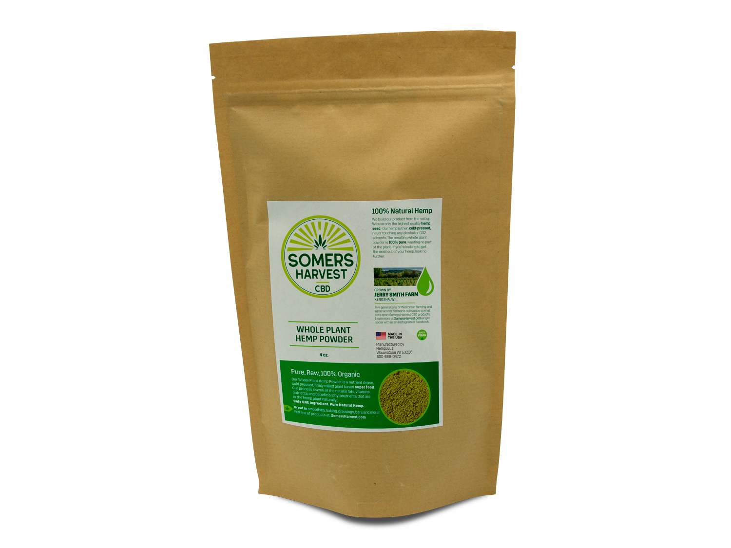 Somers Harvest Whole Plant Hemp Powder