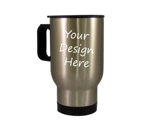 Travel Mug - 14oz - Silver Metallic