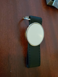 Photo Key Chain ~ Oval Leather Strap