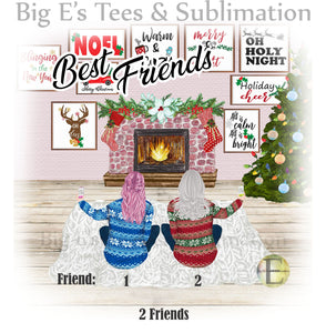 Ornament ~ Personalized Best Friends Ornament