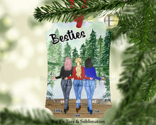 Load image into Gallery viewer, Ornament ~ Personalized Besties Ornament