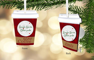 But First Coffee Pod Ornament ~ Tumbler design
