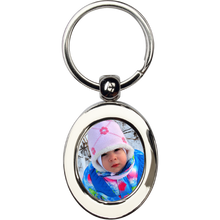 Load image into Gallery viewer, Photo Key Chain ~ Metal Oval