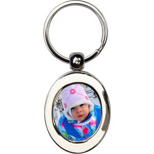 Photo Key Chain ~ Metal Oval