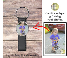 Load image into Gallery viewer, Photo Key Chain ~ Oval Leather Strap
